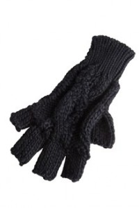 gants noir cache cache