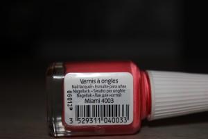 vernis étiquette